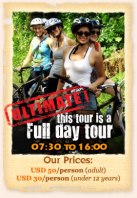 Ultimate Bali Countryside Cycling Package Price and Poster